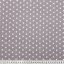 Cotton poplin printed stars grey
