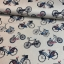 Cotton canvas printed bicycle multicolored
