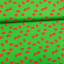 Cotton jersey printed funny apples green