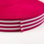Soft touch elastic fuchsia white stripes