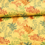 Cotton fleece jogging printed autumn forest yellow