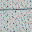 100% viscose printed falmingos and parrots mint